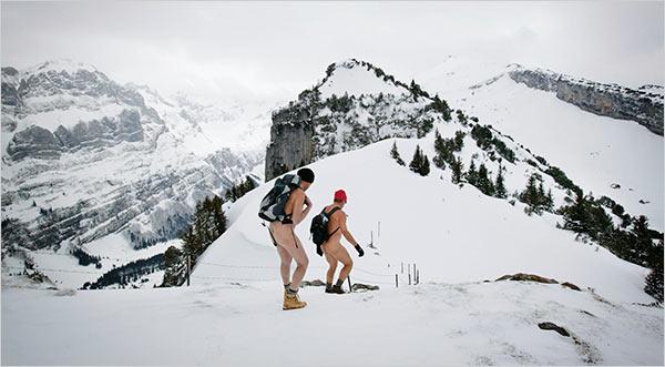 голые в горах фото