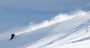 Thomas Hodel ripping the BC near Davos